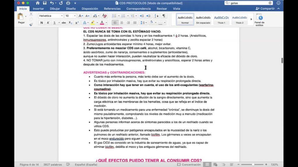 En éste video, encontrará en video el manual de protocolos copiados del sitio web del Dr. Andreas Kalcker. Estos protocolos son para el tratamiento con Dióxido de Cloro (CDS).
